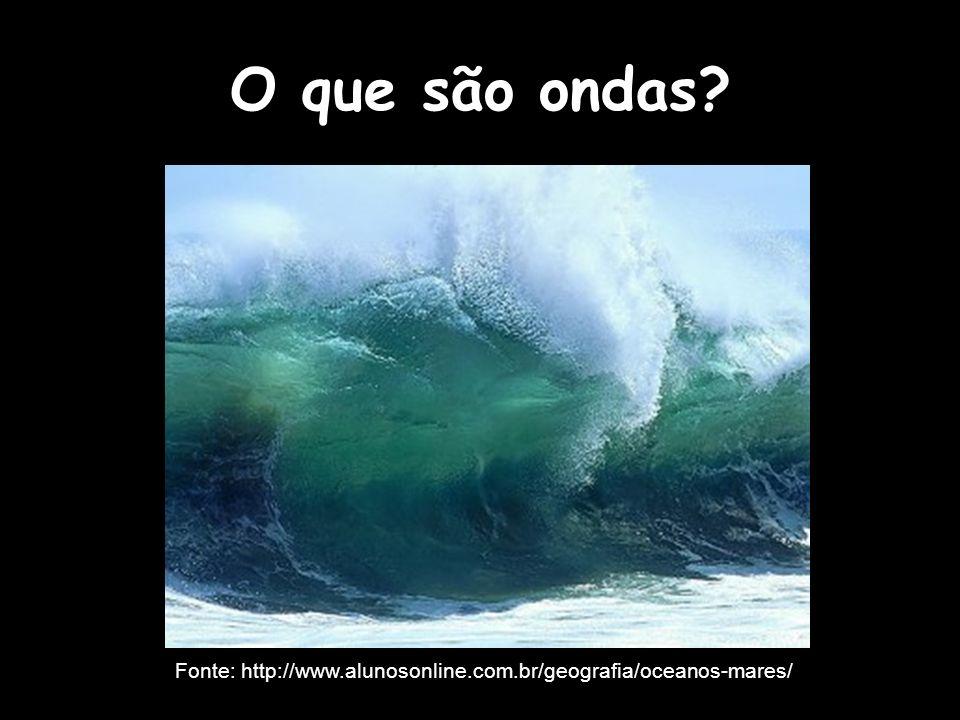 O que são ondas? Fonte: http://www.alunosonline.com.br/geografia/oceanos-mares/