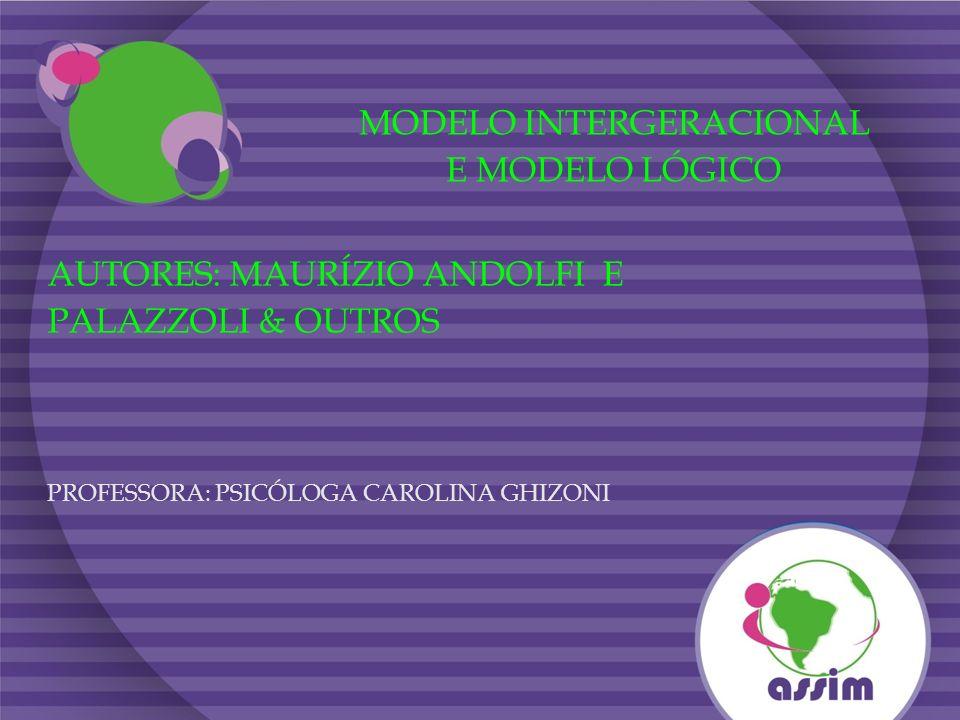 MODELO INTERGERACIONAL E MODELO LÓGICO AUTORES: MAURÍZIO ANDOLFI E PALAZZOLI & OUTROS PROFESSORA: PSICÓLOGA CAROLINA GHIZONI