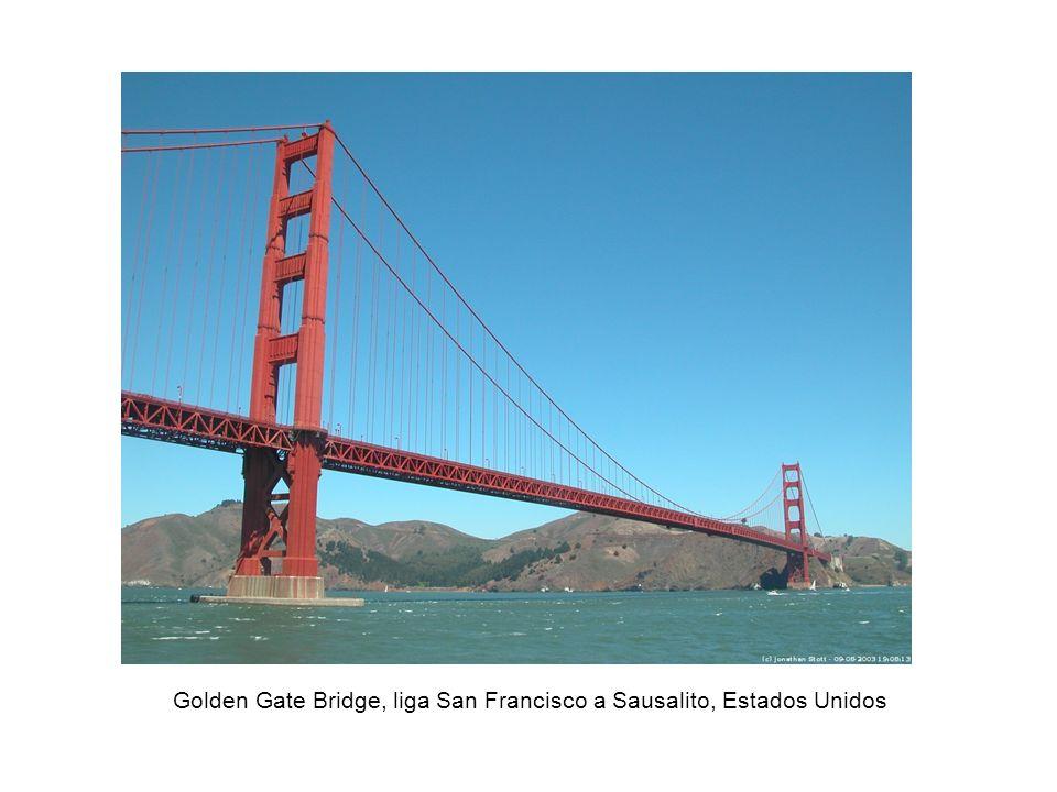 Golden Gate Bridge, liga San Francisco a Sausalito, Estados Unidos