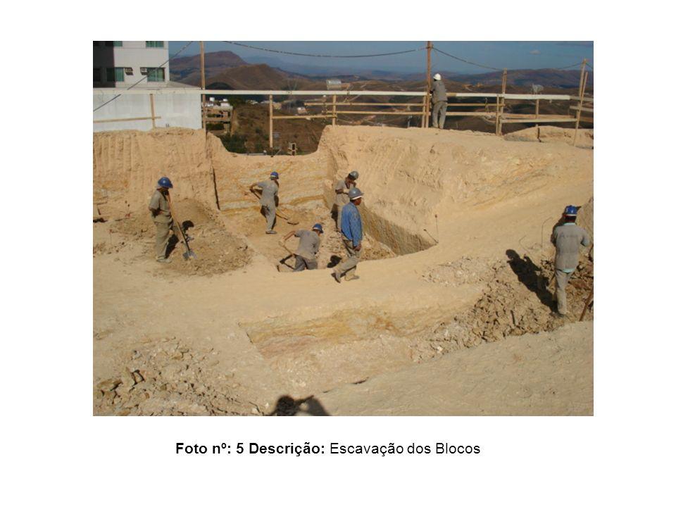 Foto nº: 5 Descrição: Escavação dos Blocos