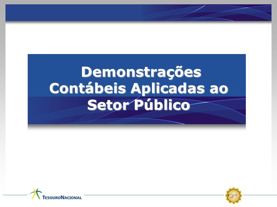 Demonstrações Contábeis Aplicadas ao Setor Público Demonstrações Contábeis Aplicadas ao Setor Público