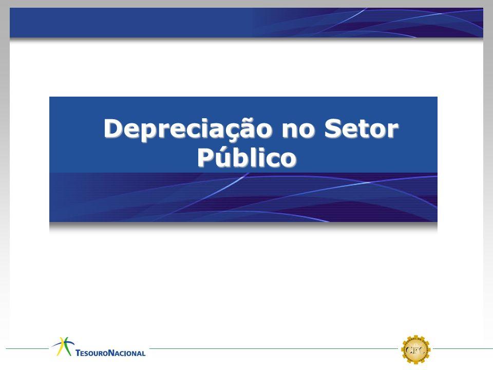 Depreciação no Setor Público Depreciação no Setor Público