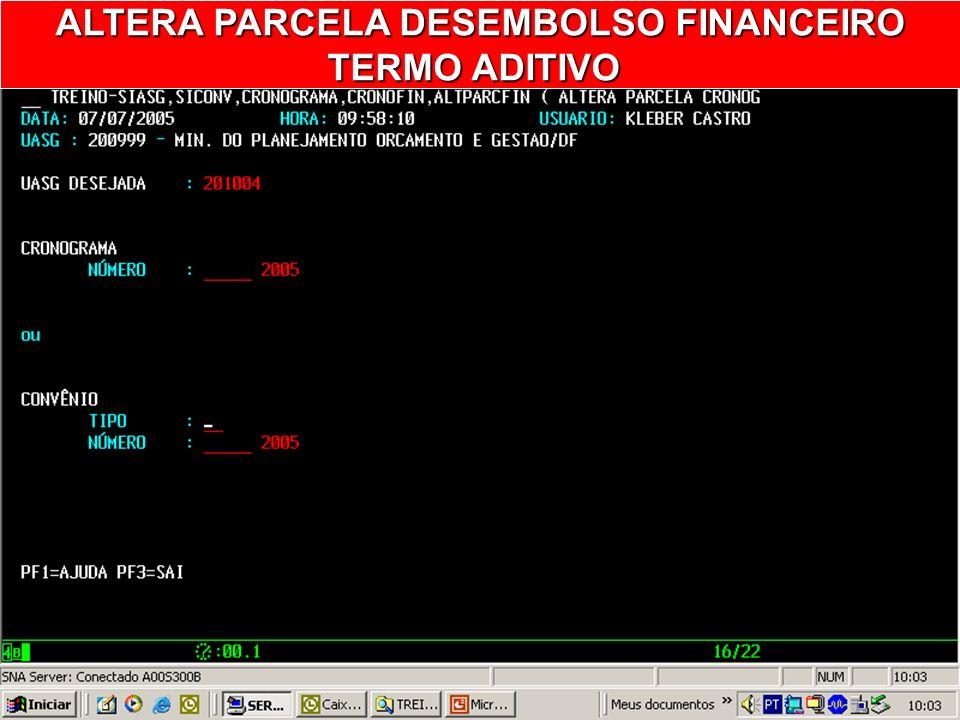 ALTEPARCFIN ALTERA PARCELA CRONOG. FINANC.