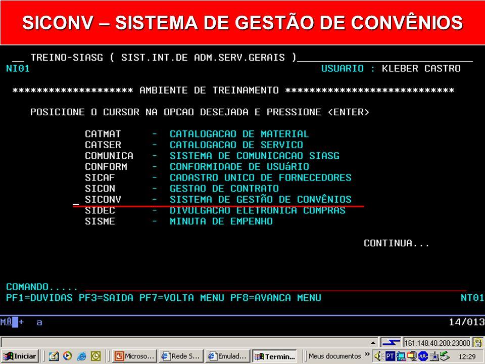 Convênio/SIASG Sub-Sistema SICONV Consulta Termo Aditivo Ministério do Planejamento, Orçamento e Gestão Secretaria de Logística e Tecnologia da Inform