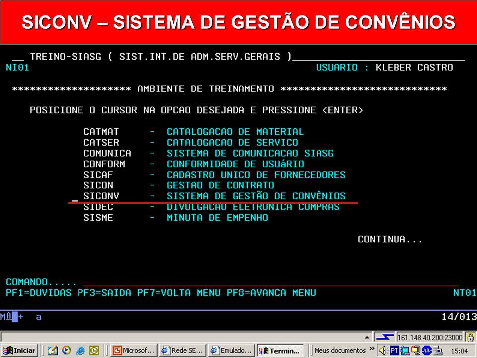 SIASG SICONV – Sistema de Gestão de Convênio Consulta Aditivo do Cronograma Ministério do Planejamento, Orçamento e Gestão Secretaria de Logística e T