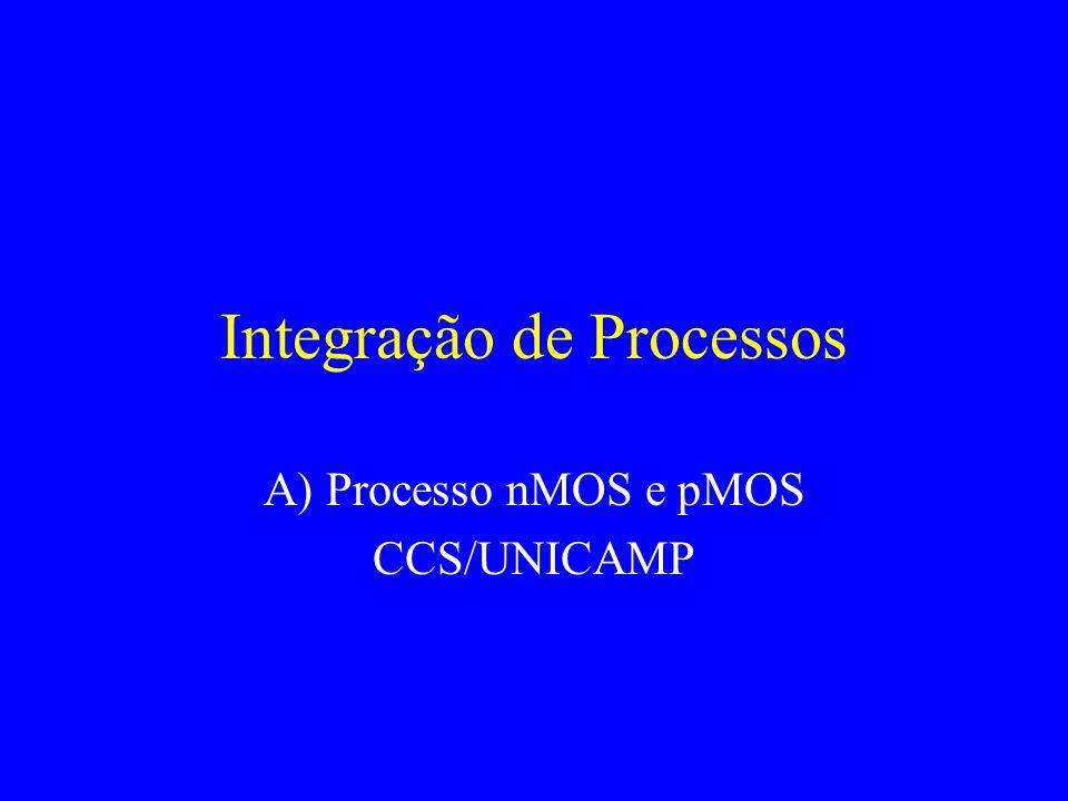 Integração de Processos A) Processo nMOS e pMOS CCS/UNICAMP