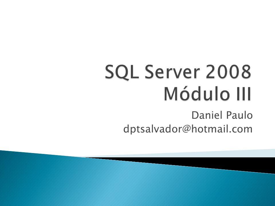 Configurando o SQL Server para enviar e-mails O envio de e-mails a determinados operadores é uma tarefa realizada pelo SQL Server Agent Mail.