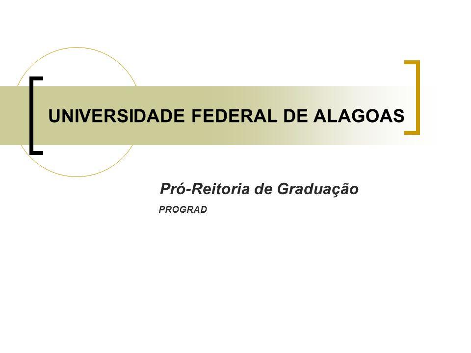 UNIVERSIDADE FEDERAL DE ALAGOAS Pró-Reitoria de Graduação PROGRAD