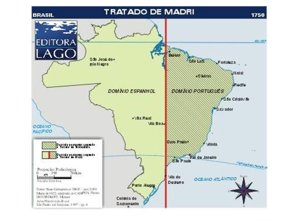 O Tratado de Madri (1750) redefiniu as fronteiras entre as Américas Portuguesa e Espanhola, anulando o estabelecido no Tratado de Tordesilhas: Portugal garantia o controle da maior parte da Bacia Amazônica, enquanto que a Espanha controlava a maior parte da baixa do Prata.
