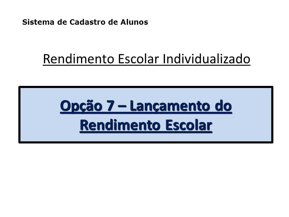 Opção 8 - Cadastro de Docente e Auxiliar Docente e Auxiliar de Educação Infantil utilizado geralmente em março/abril de cada ano. Sistema de Cadastro