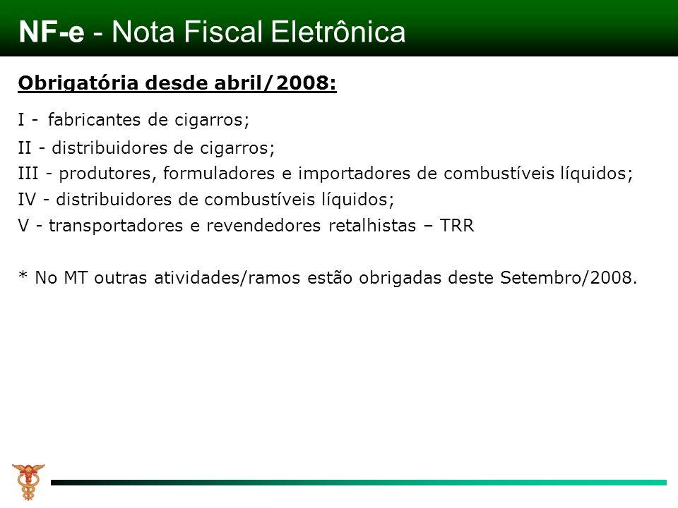 Obrigatória desde abril/2008: I - fabricantes de cigarros; II - distribuidores de cigarros; III - produtores, formuladores e importadores de combustív