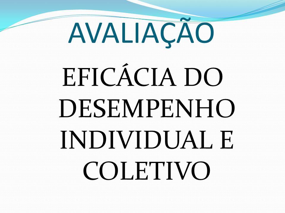 AVALIAÇÃO EFICÁCIA DO DESEMPENHO INDIVIDUAL E COLETIVO