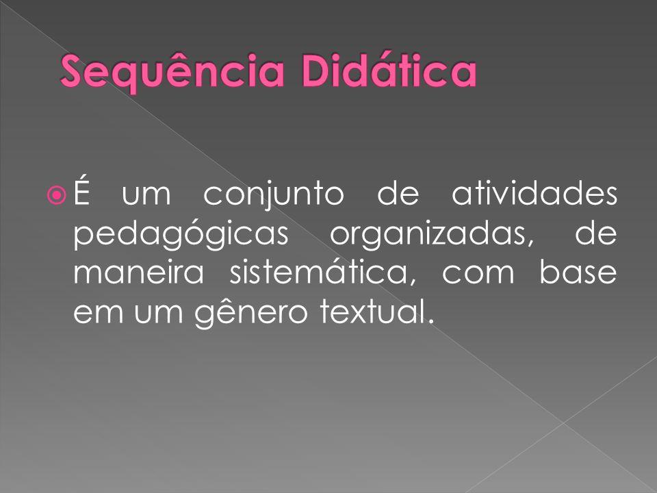 É um conjunto de atividades pedagógicas organizadas, de maneira sistemática, com base em um gênero textual.