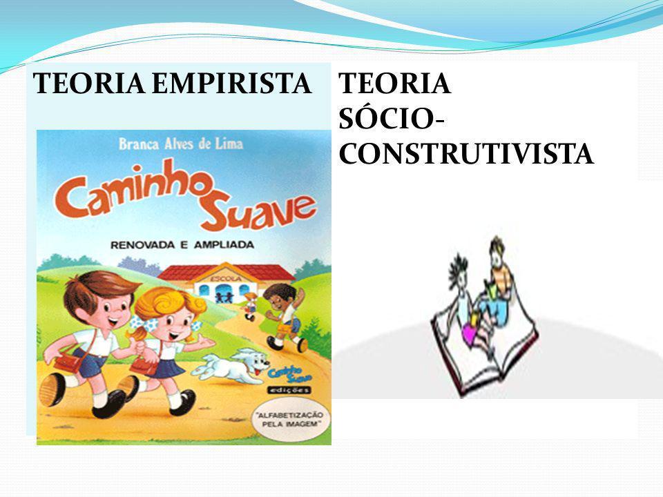 E TEORIA TEORIA EMPIRISTATEORIA SÓCIO- CONSTRUTIVISTA