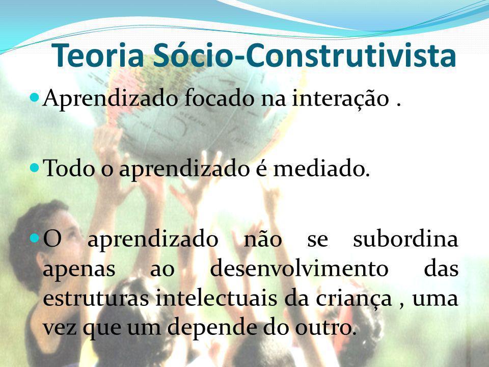 Teoria Sócio-Construtivista Aprendizado focado na interação.