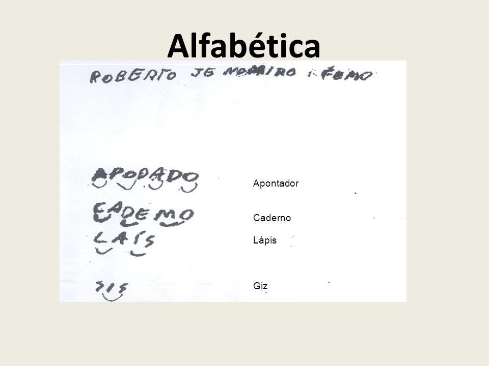 Alfabética Apontador Caderno Lápis Giz