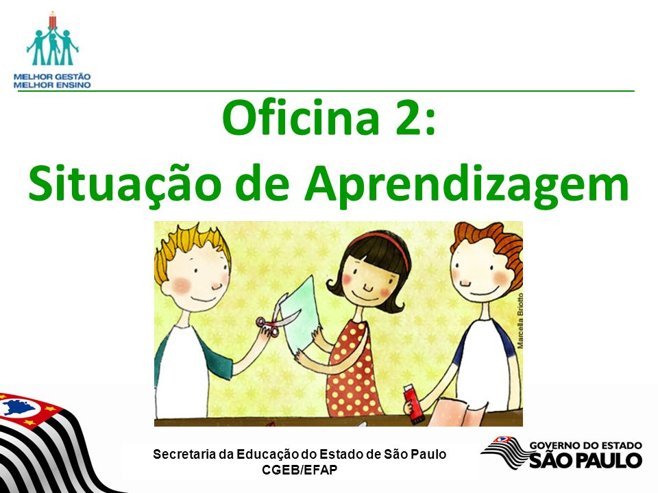 Secretaria da Educação do Estado de São Paulo CGEB/EFAP Oficina 2: Situação de Aprendizagem
