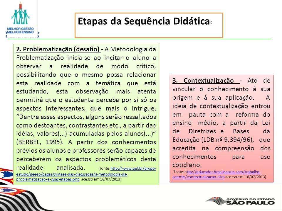 Secretaria da Educação do Estado de São Paulo CGEB/EFAP 3.