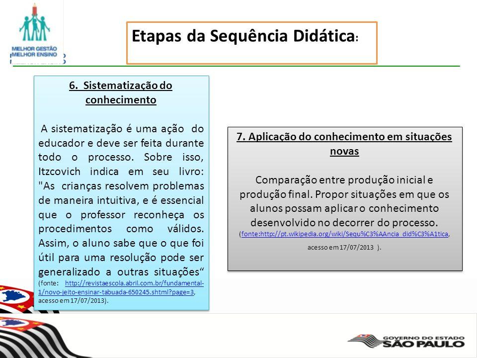 Secretaria da Educação do Estado de São Paulo CGEB/EFAP 7.