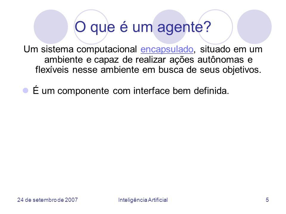 24 de setembro de 2007Inteligência Artificial36 AUML: interação entre agentes