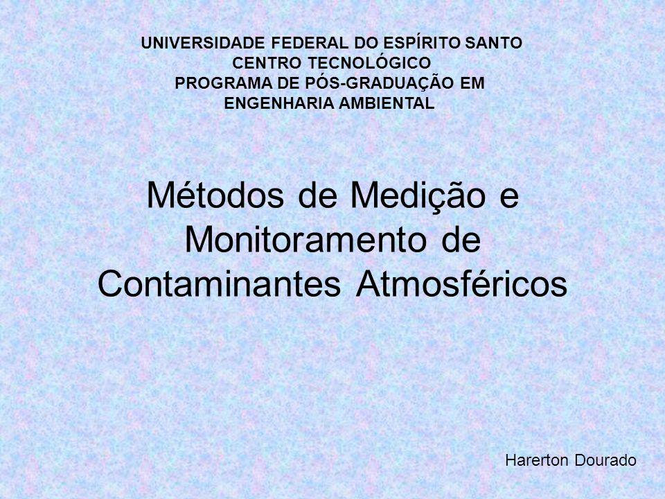 Métodos de Medição e Monitoramento de Contaminantes Atmosféricos Harerton Dourado UNIVERSIDADE FEDERAL DO ESPÍRITO SANTO CENTRO TECNOLÓGICO PROGRAMA D