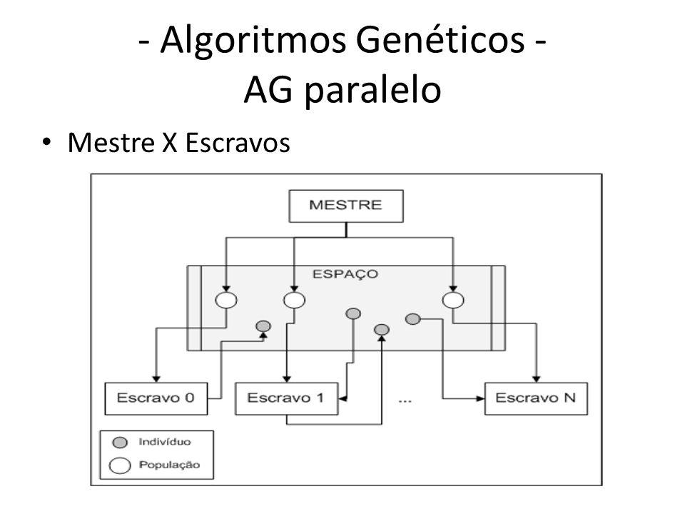 - Algoritmos Genéticos - AG paralelo Mestre X Escravos