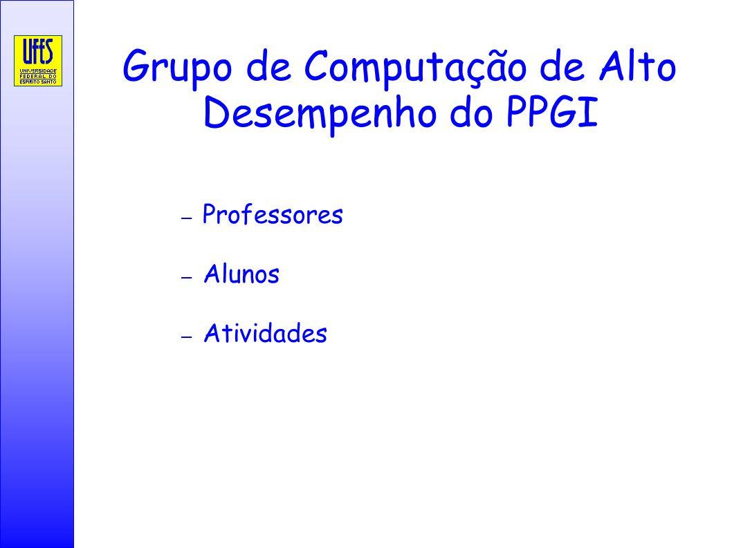 Grupo de Computação de Alto Desempenho do PPGI – Professores – Alunos – Atividades