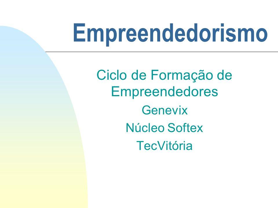Empreendedorismo Ciclo de Formação de Empreendedores Genevix Núcleo Softex TecVitória