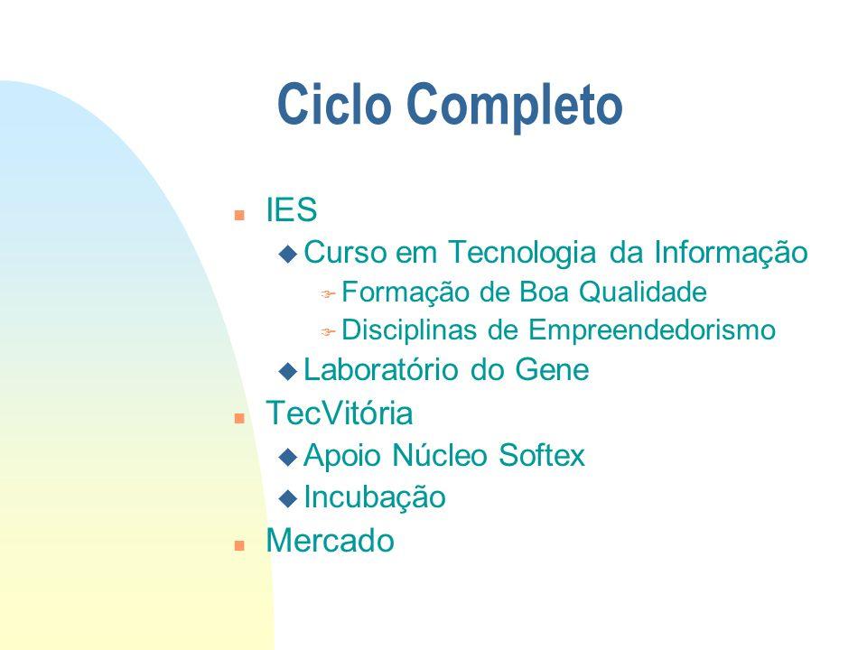 Dentro da IES n Formação em cursos com base em Tecnologia da Informação u Ciência da Computação u Engenharia da Computação u Sistemas de Informação n Disciplinas de Empreendedorismo como parte do Currículo