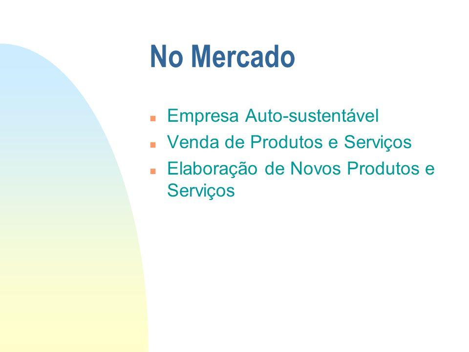 No Mercado n Empresa Auto-sustentável n Venda de Produtos e Serviços n Elaboração de Novos Produtos e Serviços