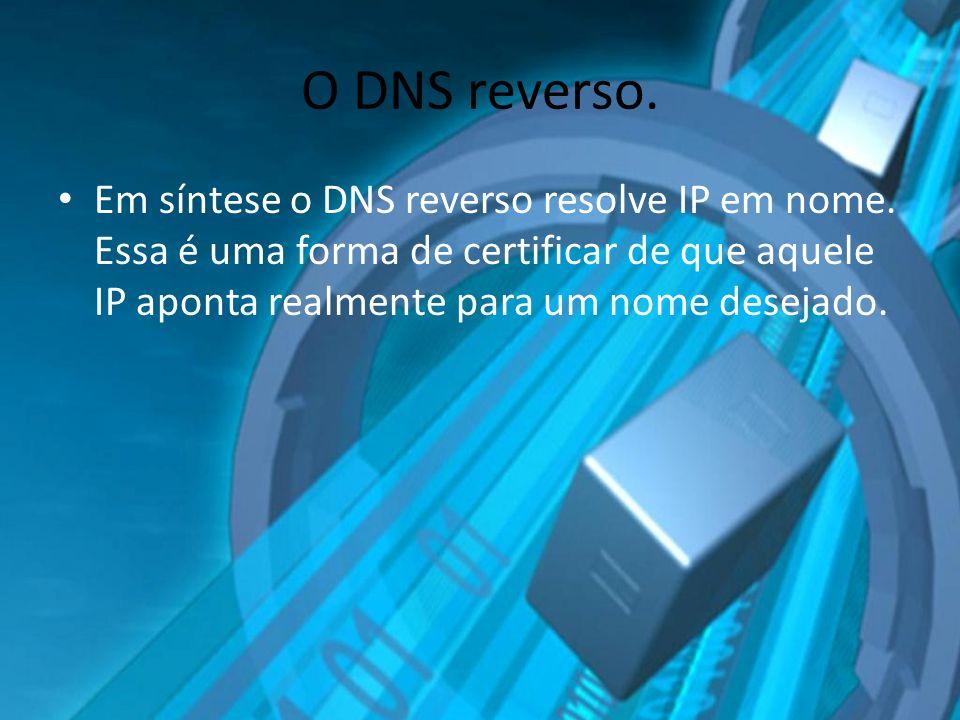 O DNS reverso. Em síntese o DNS reverso resolve IP em nome. Essa é uma forma de certificar de que aquele IP aponta realmente para um nome desejado.