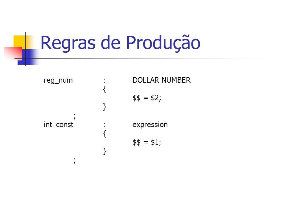 data_cmd:FULL_STOP DATA |FULL_STOP DATA int_const ; text_cmd:FULL_STOP TEXT |FULL_STOP TEXT int_const ; Regras de Produção