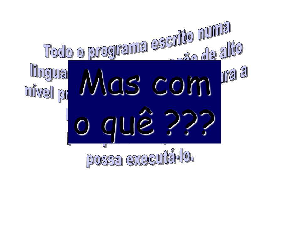 O processo de montagem traduz um programa escrito numa LP num programa equivalente em linguagem maquina. Montagem Código Fonte Tradução Linguagem de M