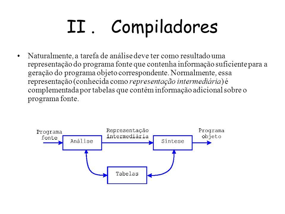 V. Exemplos de Linguagens Compiladas e Interpretadas Java; Java; Basic. Basic.
