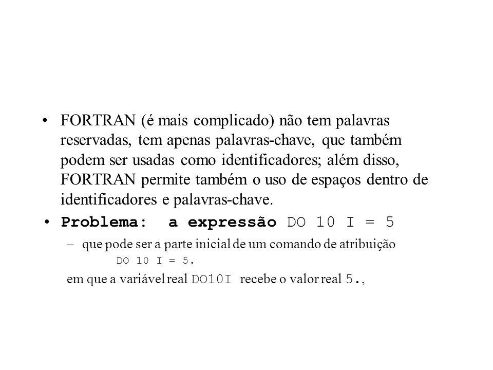 EX:. O analisador léxico do PASCAL letra ° ( letra digito sublinhado )*, –os operadores °,, e * representam respectivamente concatenação, união e repe