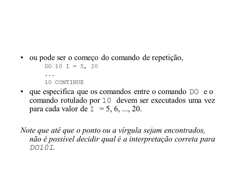 FORTRAN (é mais complicado) não tem palavras reservadas, tem apenas palavras-chave, que também podem ser usadas como identificadores; além disso, FORT