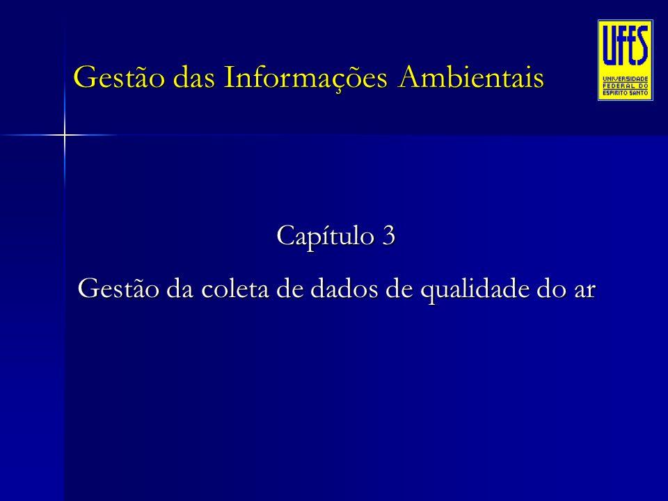 Gestão das Informações Ambientais Capítulo 3 Gestão da coleta de dados de qualidade do ar