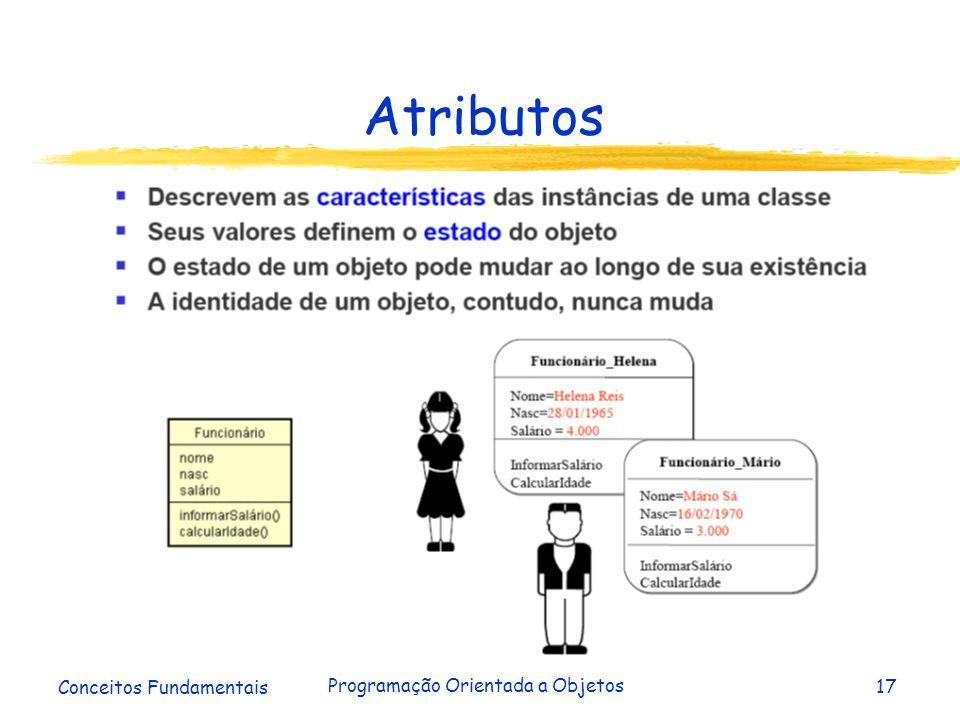 Conceitos Fundamentais Programação Orientada a Objetos17 Atributos