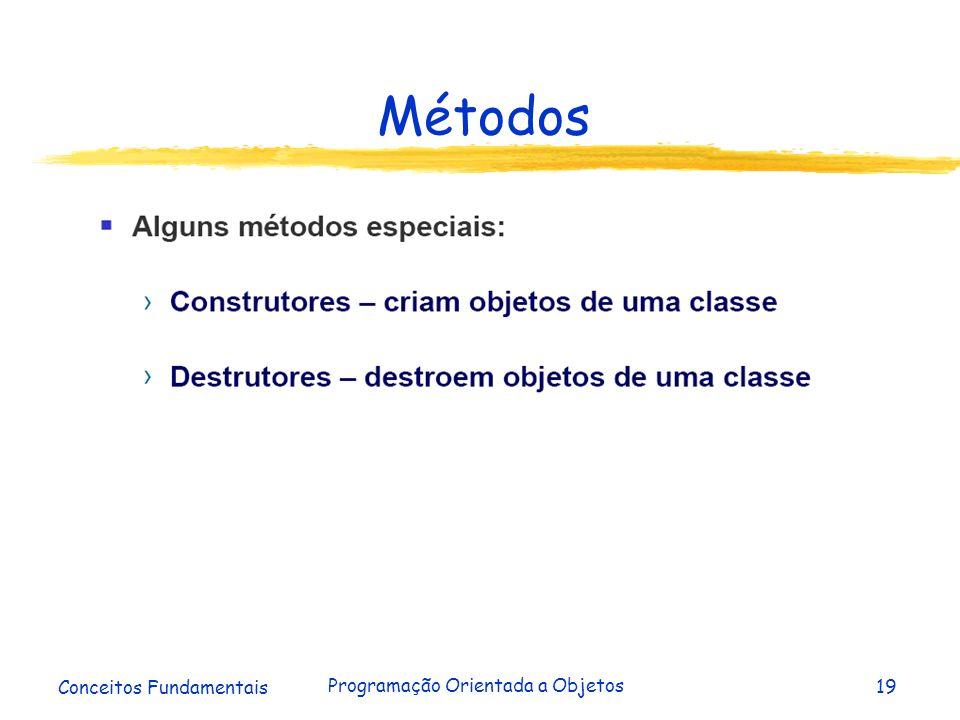 Conceitos Fundamentais Programação Orientada a Objetos19 Métodos