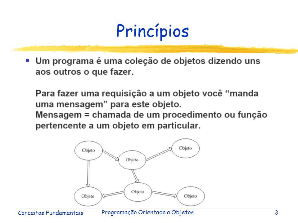 Conceitos Fundamentais Programação Orientada a Objetos4 Princípios