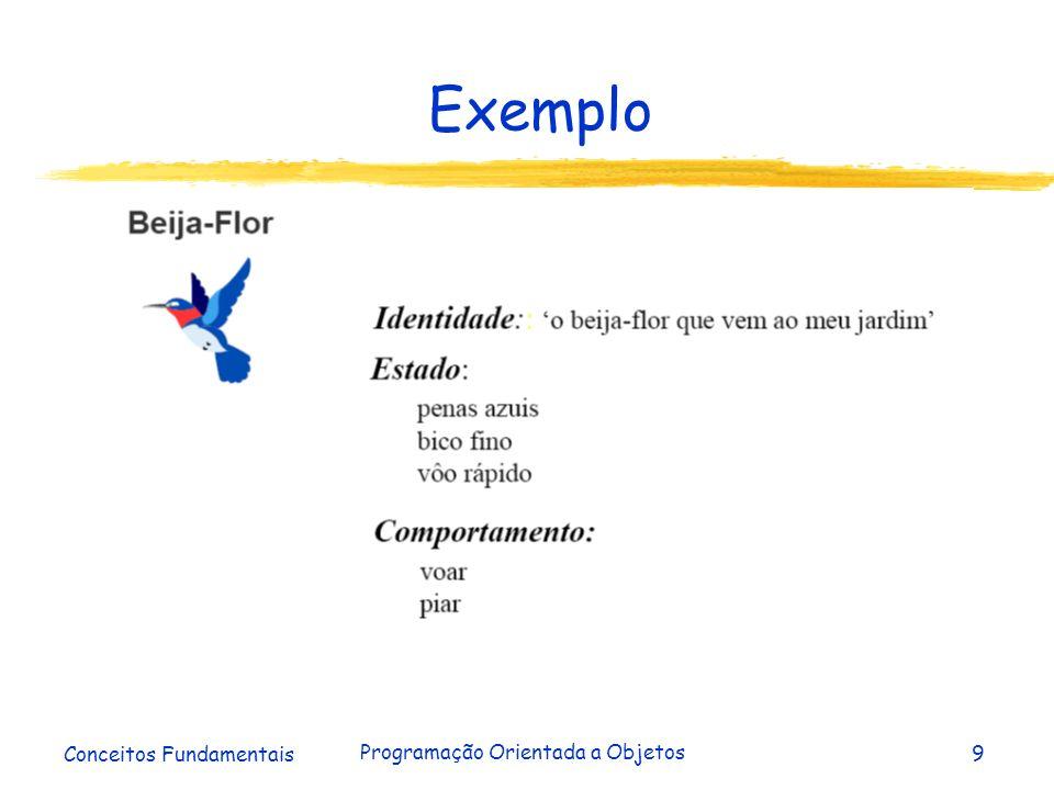 Conceitos Fundamentais Programação Orientada a Objetos9 Exemplo