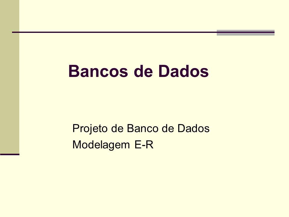 Bancos de Dados Projeto de Banco de Dados Modelagem E-R