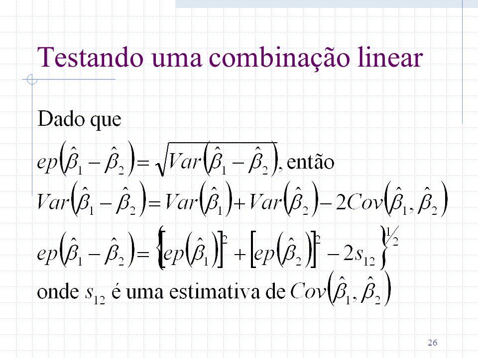 26 Testando uma combinação linear
