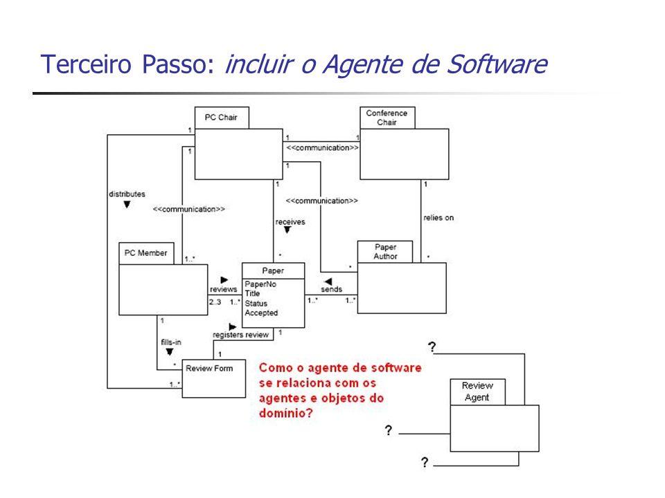 Terceiro Passo: incluir o Agente de Software