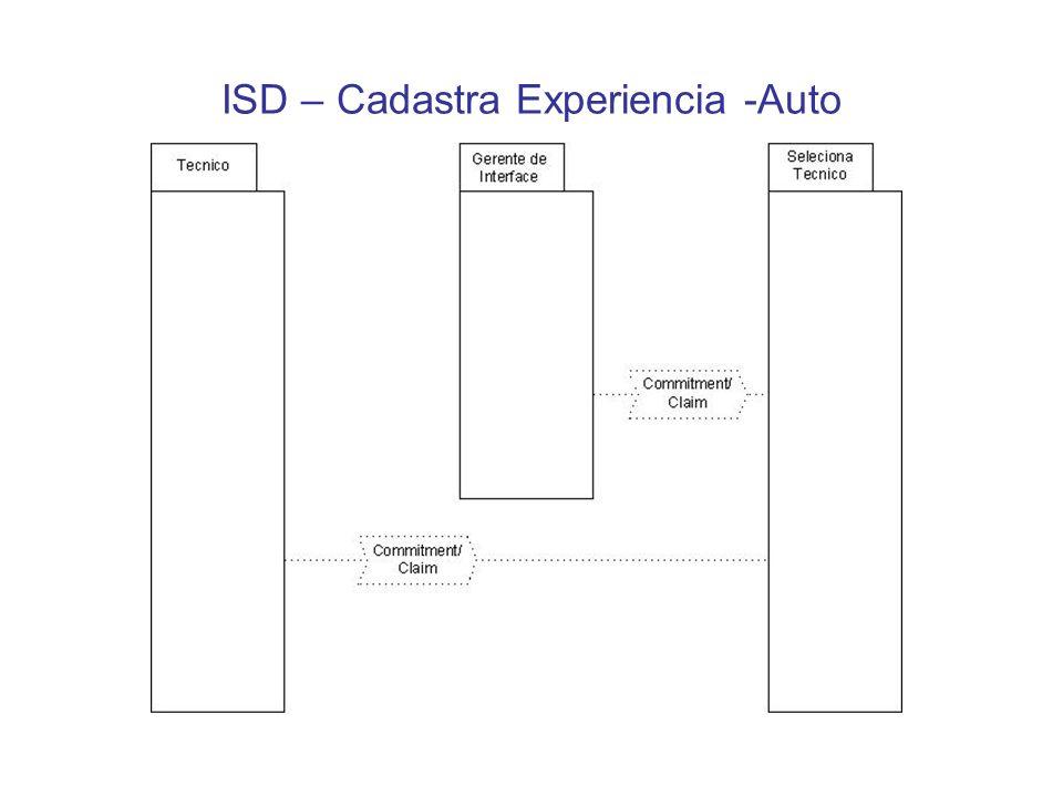 ISD – Cadastra Experiencia -Auto