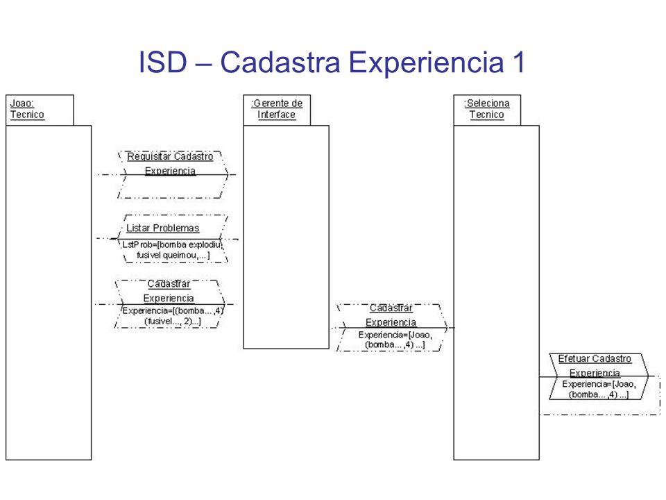 ISD – Cadastra Experiencia 1