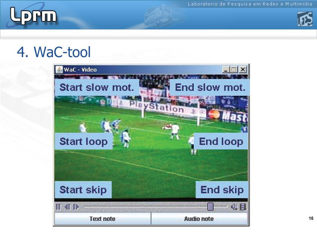 16 4. WaC-tool