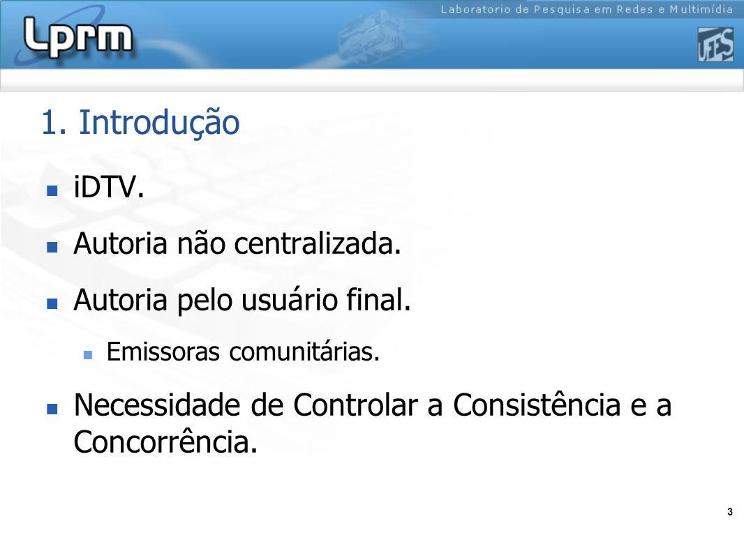 3 1.Introdução iDTV. Autoria não centralizada. Autoria pelo usuário final.