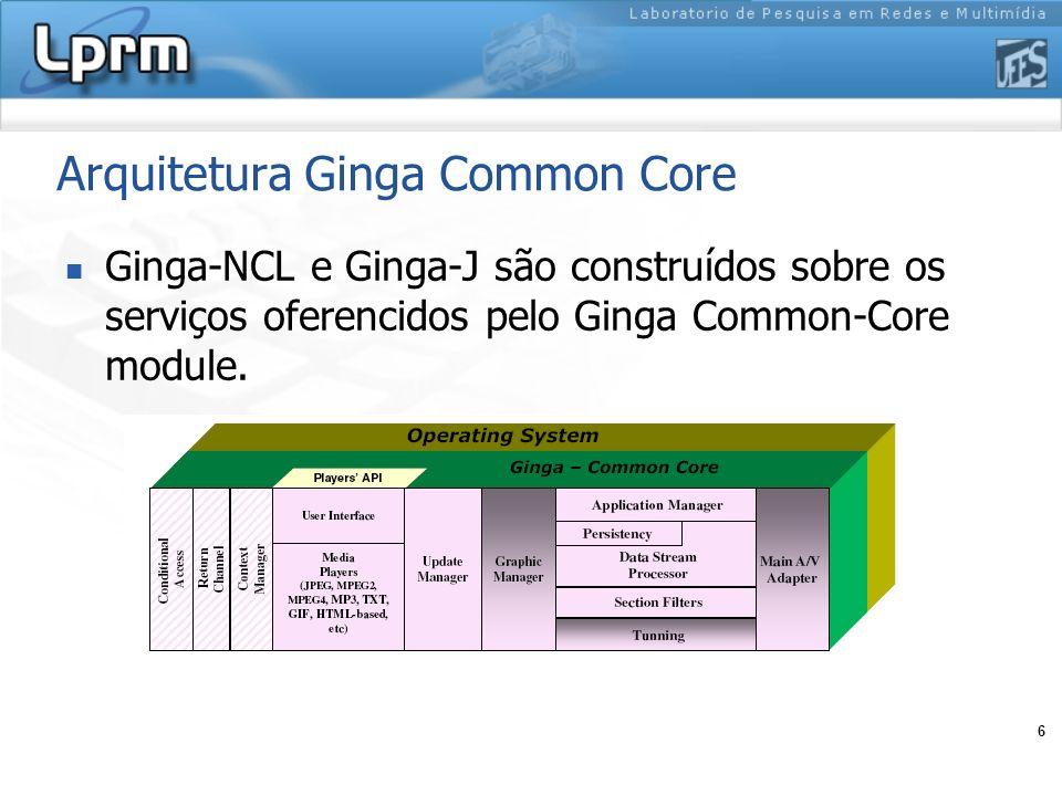 7 Agenda Introdução Arquitetura Ginga Ginga-NCL Comandos de edição Ginga-NCL Processamento de dados pelo Ginga Common Core Lua: Linguagem de script pelo NCL Ponte entre Ginga-NCL e Ginga-J Considerações Finais