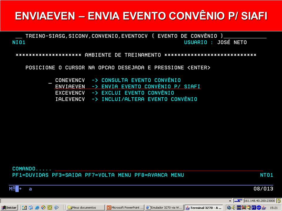 EVENTOCV - EVENTO DE CONVÊNIO